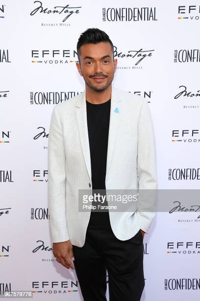 Anthony Ramos attends the Los Angeles Confidential Celebration for Portraits of Pride with GLAAD and Laverne Cox on June 4 2018 in Beverly Hills...