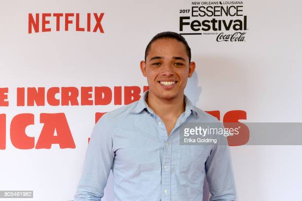 Anthony Ramos attends the Premiere Of Netflix Original Film The Incredible Jessica James At The 2017 Essence Festival on July 1 2017 in New Orleans...