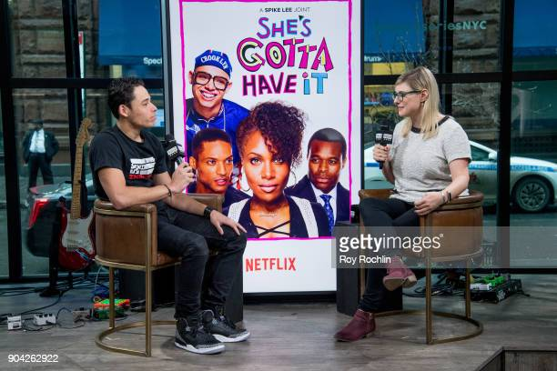 Anthony Ramos discusses 'SheÕs Gotta Have It' with the Build Series at Build Studio on January 12 2018 in New York City