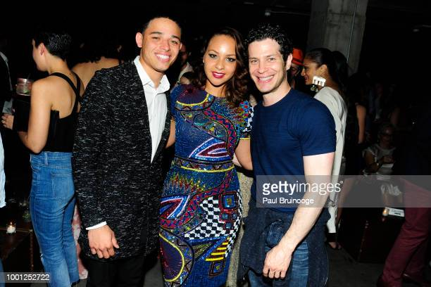Anthony Ramos Jasmine Cephas Jones and Thomas Kail attend Lionsgate With The Cinema Society Host The After Party For 'Blindspotting' at Public Arts...