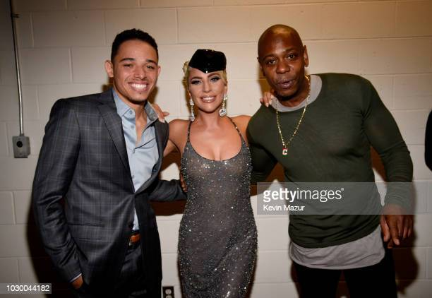 Anthony Ramos Lady Gaga and Dave Chappelle attend the A Star Is Born premiere during 2018 Toronto International Film Festival at Roy Thomson Hall on...