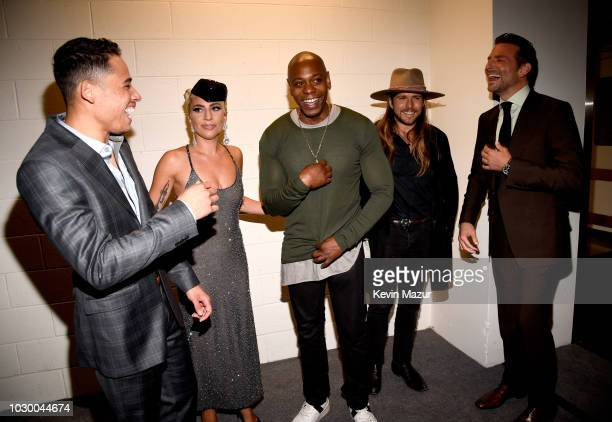 Anthony Ramos Lady Gaga Dave Chappelle Lukas Nelson and Bradley Cooper attend the A Star Is Born premiere during 2018 Toronto International Film...