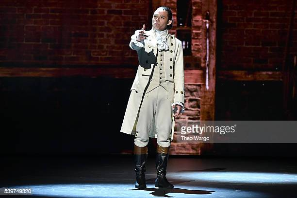 Anthony Ramos performs onstage during the 70th Annual Tony Awards at The Beacon Theatre on June 12 2016 in New York City