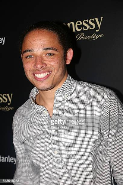 Anthony Ramos poses at the after party for LinManuel Miranda's final show in 'Hamilton' on Broadway at The R Lounge on July 9 2016 in New York City