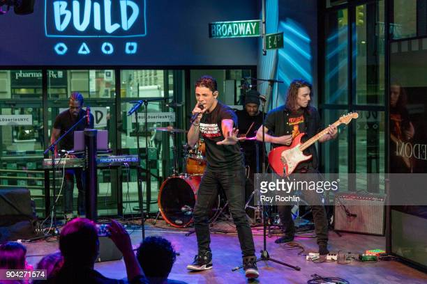 Anthony Ramos preforms on stage during the Build Series at Build Studio on January 12 2018 in New York City