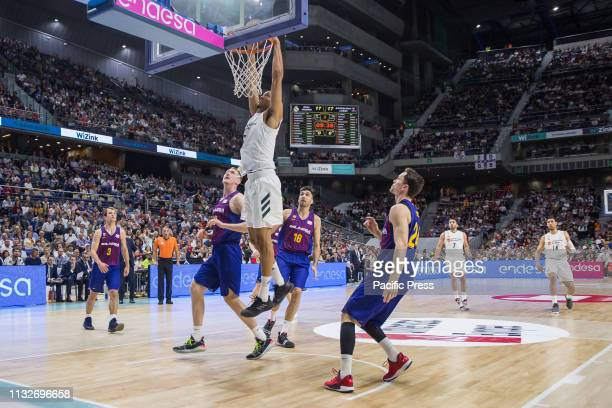 Anthony Randolph during FC Barcelona Lassa victory over Real Madrid in Liga Endesa regular season game celebrated in Madrid at Wizink Center March...