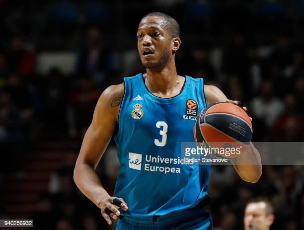 Anthony Randolph of Real Madrid in action during the 2017/2018 Turkish Airlines EuroLeague Regular Season game between Crvena Zvezda mts Belgrade and...