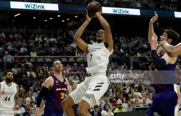 Anthony Randolph of Real Madrid in action during the Liga Endesa week 24 match between Real Madrid and FC Barcelona Lassa at Wizink Center on March...