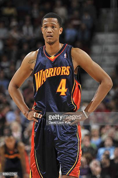 Anthony Randolph of the Golden State Warriors stands on the court during the game against the Cleveland Cavaliers on November 17 2009 at Quicken...