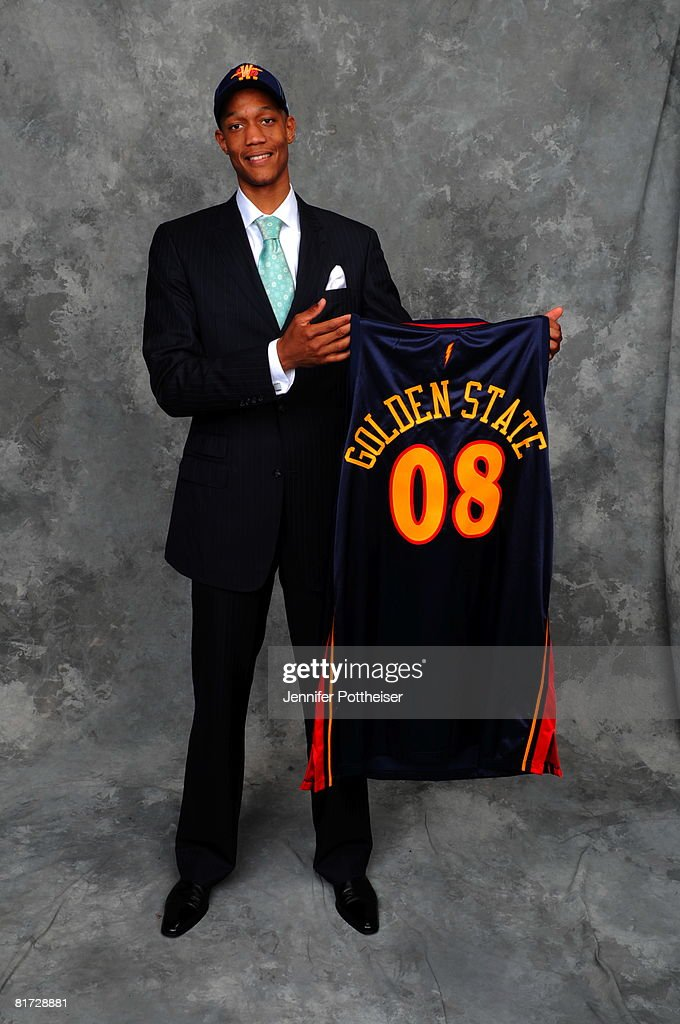 Anthony Randolph selected number fourteen overall by the Golden State Warriors poses for a portrait backstage during the 2008 NBA Draft on June 26, 2008 at the WaMu Theatre at Madison Square Garden in New York City.