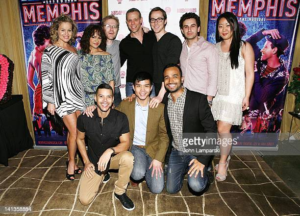 Anthony Rapp Adam Pascal Wilson Cruz Telly Lung and the cast from the Broadway Musical Rent attend the Memphis celebration of 1000 Broadway...