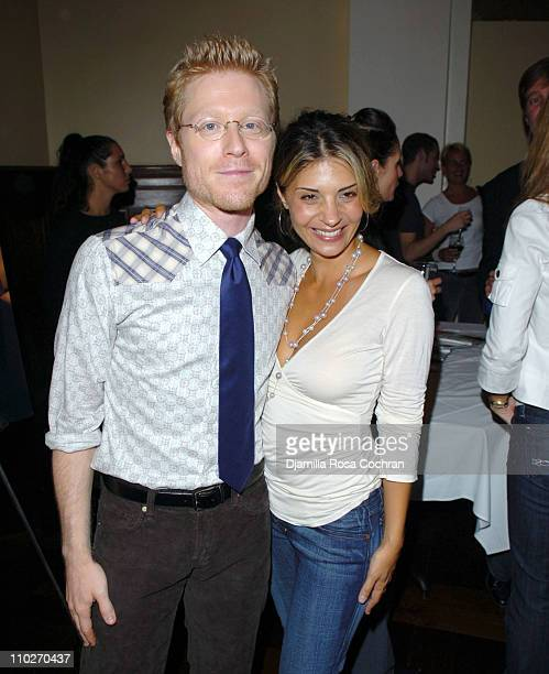 Anthony Rapp and Callie Thorne during Gotham Magazine and Versace Precious Watches Celebrate Steven Pasquale and Anthony Rapp at Chemist Club in New...