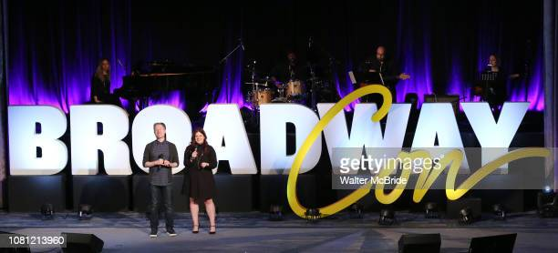 Anthony Rapp and Melissa Anelli on stage during Broadwaycon Opening Ceremony at New York Hilton Midtown on January 11 2019 in New York City