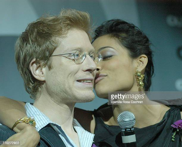 Anthony Rapp and Rosario Dawson during Out Magazine celebrates the 11th Annual 'Out 100 Awards' at Capitale in New York City New York