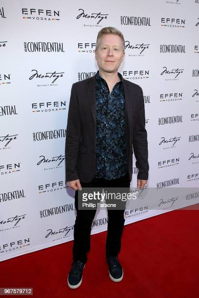 Anthony Rapp attends the Los Angeles Confidential Celebration for Portraits of Pride with GLAAD and Laverne Cox on June 4 2018 in Beverly Hills...