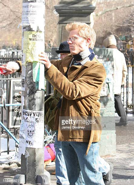 Anthony Rapp during On the Set of 'Rent' March 9 2005 at Tompkins Square Park in New York City New York United States