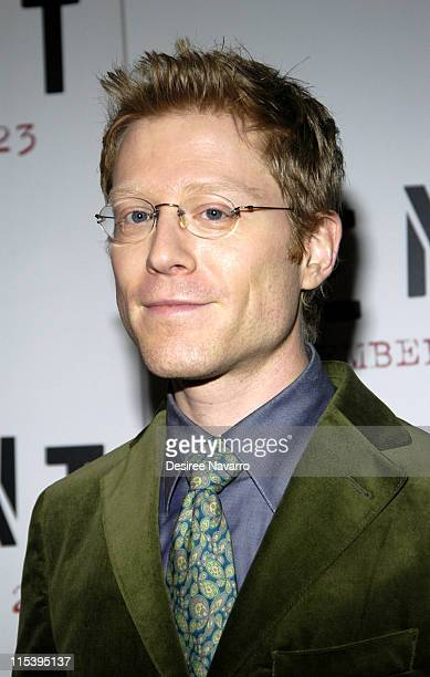 Anthony Rapp during ''Rent'' New York City Premiere Arrivals at Ziegfeld Theater in New York City New York United States