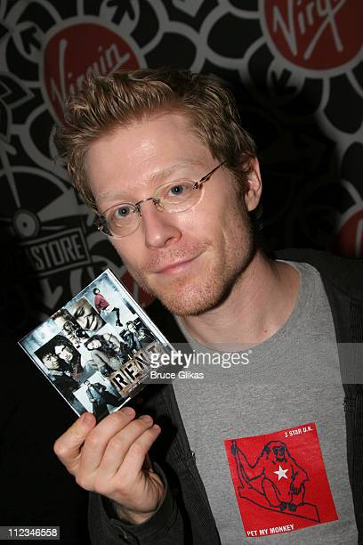 Anthony Rapp during The Cast of 'Rent' InStore Signing at Virgin Megastore in Times Square November 14 2005 at The Virgin Megastore Times Square in...