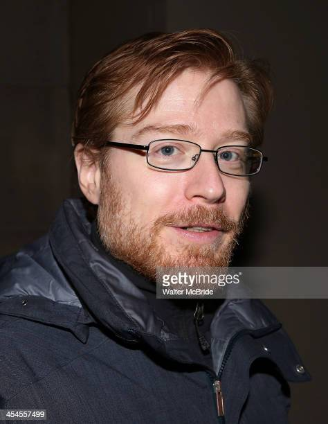 Anthony Rapp greeting fans after a PreBroadway preview performance in 'If/Then' at the National Theatre on December 8 2013 in Washington DC