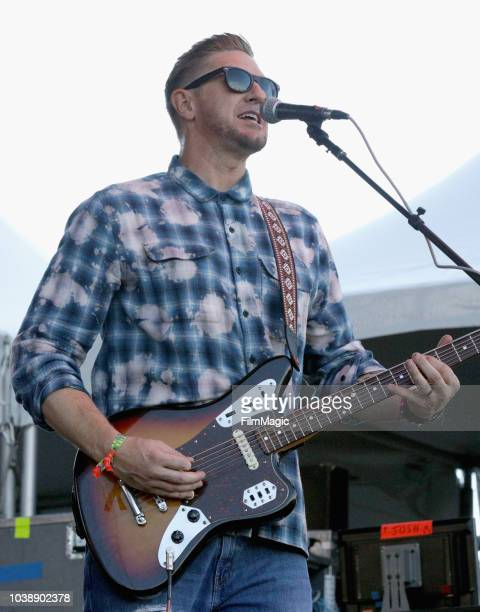 Anthony Ratto of The Dirty Hooks performs on Huntridge Stage during the 2018 Life Is Beautiful Festival on September 23 2018 in Las Vegas Nevada