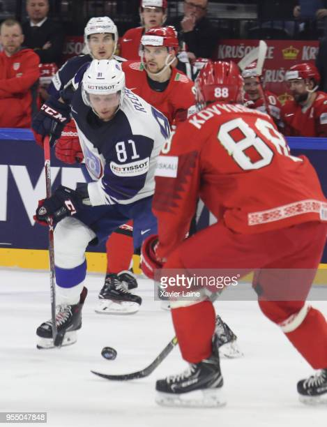 Anthony Rech of France in action during the 2018 IIHF Ice Hockey World Championship Group A between France and Belarus at Royal Arena on May 5 2018...