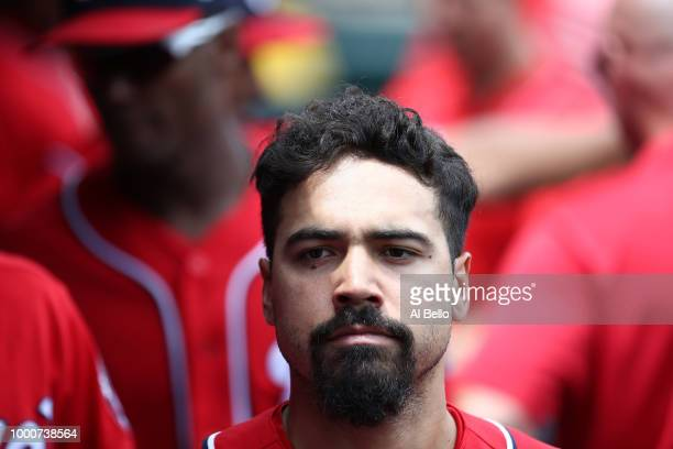 Anthony Rendon of the Washington Nationals looks on against the New York Mets during their game at Citi Field on July 15 2018 in New York City