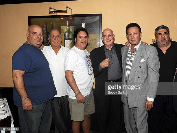 Anthony Ribustello Arthur Nascarella Lou Martini Jr Dominic Chianese Tony Darrow and Vincent Pastore attend The Sopranos Celebrity Dinner at Empire...