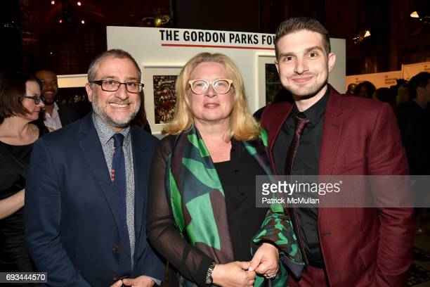 Anthony Richter Susan Weber and Alex Soros attend the Gordon Parks Foundation Awards Dinner Auction at Cipriani 42nd Street on June 6 2017 in New...