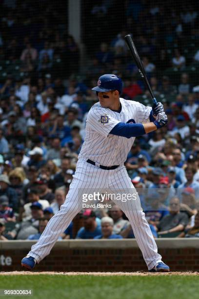 Anthony Rizzo of the Chicago Cubs bats against the Atlanta Braves on May 14 2018 at Wrigley Field in Chicago Illinois Anthony Rizzo