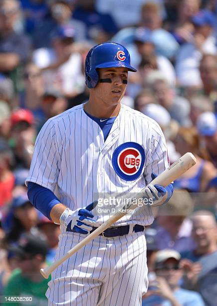 Anthony Rizzo of the Chicago Cubs bats against the Houston Astros on July 1 2012 at Wrigley Field in Chicago Illinois The Cubs defeated the Astros 30