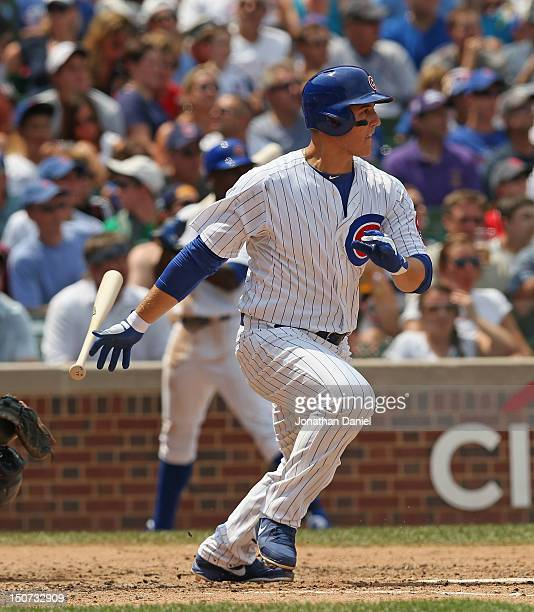 Anthony Rizzo of the Chicago Cubs bats against the St Louis Cardinals at Wrigley Field on July 29 2012 in Chicago Illinois The Cubs defeated the...