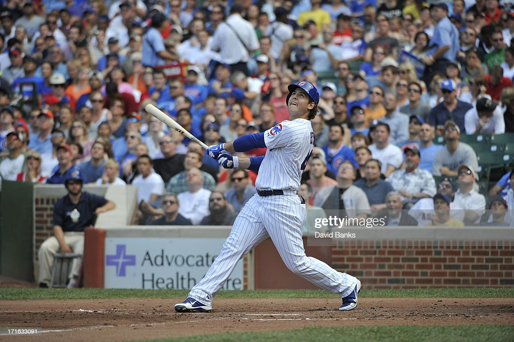 Anthony Rizzo #44 of the Chicago Cubs plays against the Houston Astros on June 22, 2013 at Wrigley Field in Chicago, Illinois.