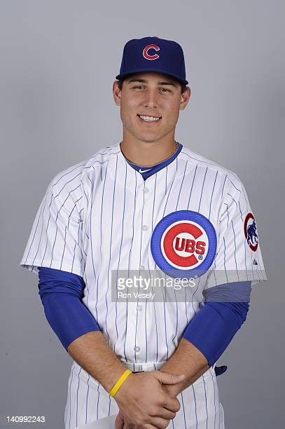 Anthony Rizzo of the Chicago Cubs poses during Photo Day on Monday February 27 2012 at Hohokam Stadium in Mesa Arizona