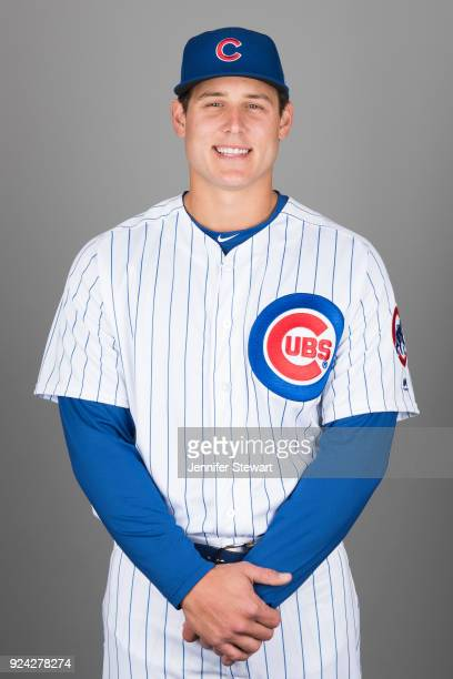 Anthony Rizzo of the Chicago Cubs poses during Photo Day on Tuesday February 20 2018 at Sloan Park in Mesa Arizona
