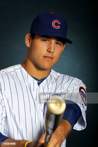 Anthony Rizzo of the Chicago Cubs poses during spring training photo day on February 27 2012 in Mesa Arizona