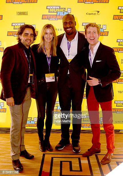 Anthony Rodriguez CEO of Lineage Interactive Anna Rawson professional golfer/model professional football player Vernon Davis and Daniel Jeydel...