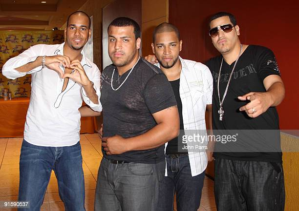 Anthony Romeo Santos Lenny Santos Henry Santos Jeter and Max Santos of the music group Aventura attend a promotion for The Last at the Dolphin Mall...