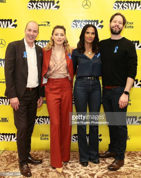 Anthony Romero Amber Heard Padma Lakshmi and Ike Barinholtz at Featured Session Making Change On and Off the Screen during the 2019 SXSW Conference...
