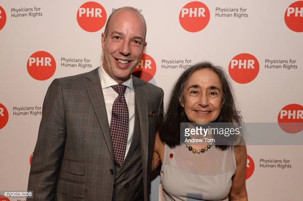 Anthony Romero and Marion Bergman MD attend the PHR 2017 Gala at Jazz at Lincoln Center on April 18 2017 in New York City