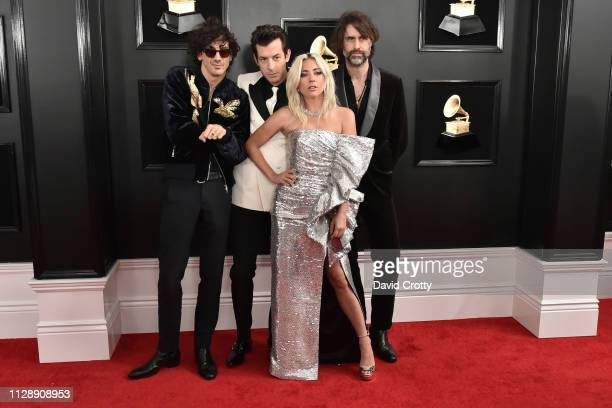Anthony Rossomando Mark Ronson Lady Gaga and Andrew Wyatt attend the 61st Annual Grammy Awards at Staples Center on February 10 2019 in Los Angeles...