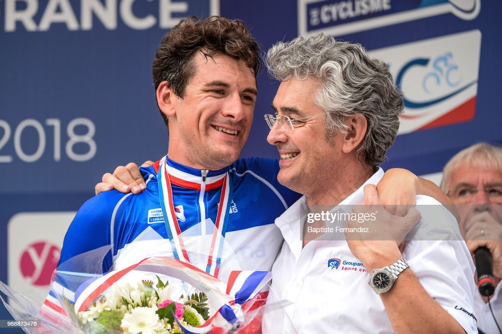 a1a4ca6e4 French road Championship. Anthony Roux of Groupama FDJ and Marc Madiot