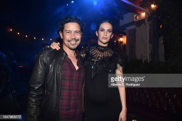 Anthony Ruivivar and Kate Siegel attend the after party for the premiere of Neflix's The Haunting Of Hill House at ArcLight Hollywood on October 8...