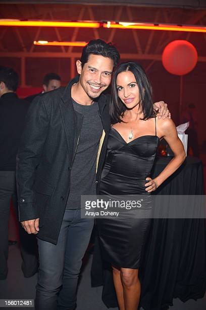 Anthony Ruivivar and Tia Texada attend the JaydenSuede launch event at Six01 Studio on November 10 2012 in Los Angeles California