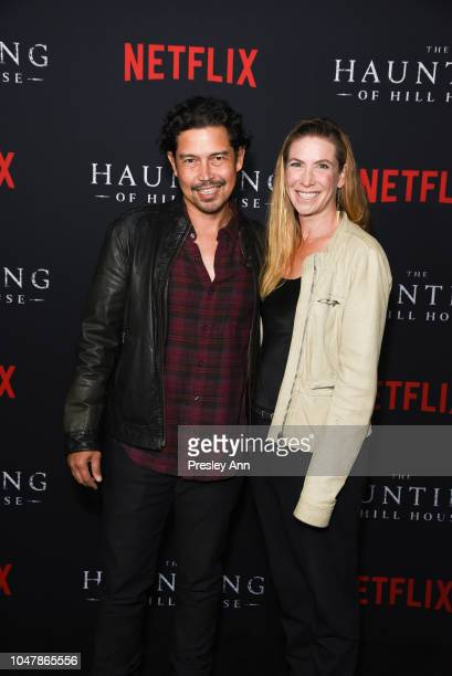 Anthony Ruivivar and Yvonne Jung attend Netflix's The Haunting Of Hill House Season 1 Premiere Arrivals at ArcLight Hollywood on October 8 2018 in...