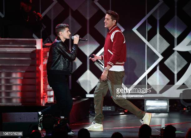 Anthony Russo and GEazy perform onstage during 1027 KIIS FM's Jingle Ball 2018 Presented by Capital One at The Forum on November 30 2018 in Inglewood...