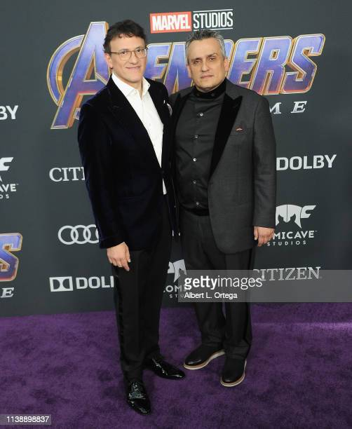 """Anthony Russo and Joe Russo arrive for the World Premiere Of Walt Disney Studios Motion Pictures """"Avengers: Endgame"""" held at Los Angeles Convention..."""