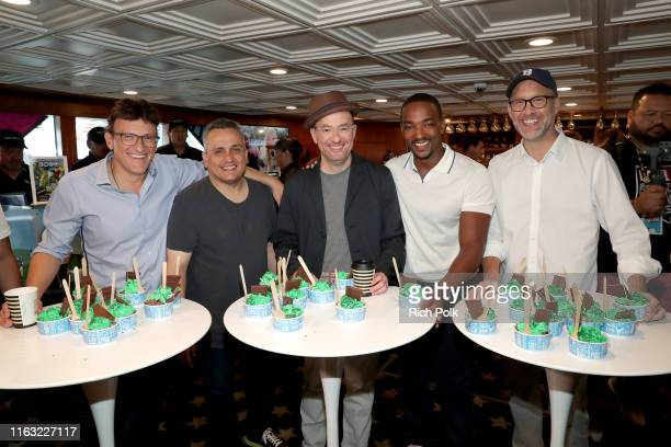 Anthony Russo Joe Russo Christopher Markus Anthony Mackie and Stephen McFeely attend the #IMDboat at San Diego ComicCon 2019 Day Three at the IMDb...