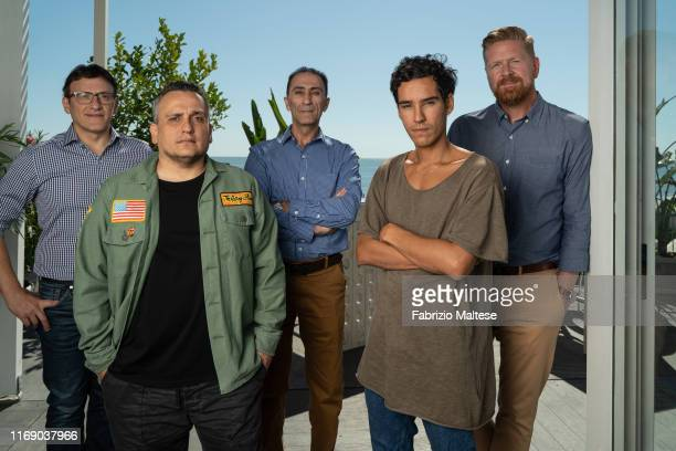 Anthony Russo, Joe Russo, Suhail Dabbach, Adam Bessa and Matthew Michael Carnahan pose for a portrait on September 5, 2019 in Venice, Italy.