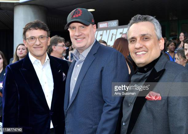 Anthony Russo Marvel Studios President Kevin Feige and Joe Russo attends the world premiere of Walt Disney Studios Motion Pictures Avengers Endgame...