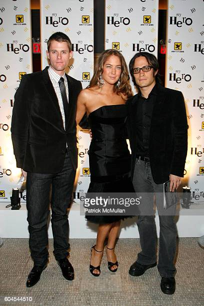 """Anthony Rutgers Karina Correa Maury and Gael Garcia Bernal attend AID FOR AIDS Hosts Annual """"MY HERO"""" Award Dinner and Fall Gala at Capitale on..."""